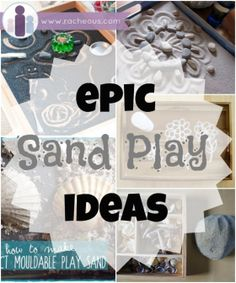 epic sand play ideas Sensory Tubs, Sensory Activities, Therapy Activities, Sensory Play, Activities For Kids, Sand Therapy, Therapy Tools, Therapy Ideas, Sandplay Therapy