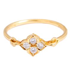 Beautiful Cartier Yellow Gold and Diamond Trinity Star Ring