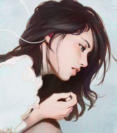 Pin by denisa balas on anime in 2019 art, illustration girl, art drawings. Art Anime Fille, Anime Art Girl, Manga Art, Digital Art Girl, Digital Portrait, Portrait Art, Art And Illustration, Art Sketches, Art Drawings