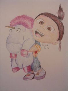 Agnes with Unicorn from 'Despicable me' - Draft from Kristina Webb http://media-cache-ak0.pinimg.com/736x/b4/39/c9/b439c9c1c90678a860c3981eacc45bd1.jpg