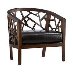 Ankara Chair with Leather Cushion