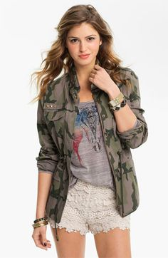 Camo jacket $39.90 @Nordstrom