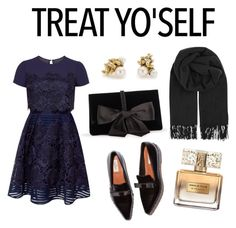 """""""Treat Yourself"""" by viavio ❤ liked on Polyvore featuring Ted Baker, BeckSöndergaard, Ruth Tomlinson, Ann Taylor, Givenchy and treatyoself"""