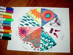 """Emotions Color Wheel  Emotions Color Wheel     Description: This activity is good to break the ice with any client. It is also an easy """"che..."""