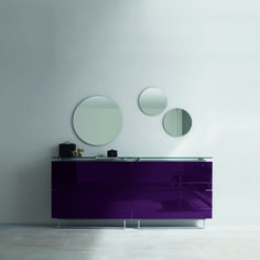 Italian hallway shoe cabinet with circle mirror at My Italian Living Ltd