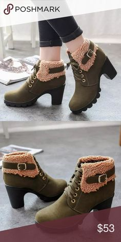 """⭐️ OJDC Plush Ankle Boot AVAILABLE SOON ❗️COMMENT BELOW TO BE NOTIFIED WHEN THIS ITEM IS AVAILABLE FOR PURCHASE   faux leather/suede blend/rubber sole   3"""" heel height   slip on design with zip back   fits true to size   available in others colors in separate listings   price firm unless bundled OJDC Shoes Ankle Boots & Booties"""