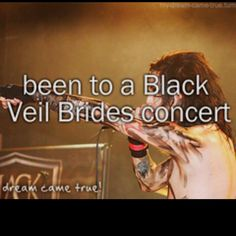 Meet Black Veil Brides... so on my baby's bucket list... will be checked off on 01/16/2013