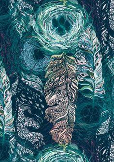 Decadence Wallpaper - Edgar - Twilight Teal