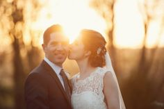Bride and groom and amazing light at winter sunset. December wedding in Castle Durrow, Co. Laois. Have a look at more Weddings by KARA photography here: weddingsbykara.com