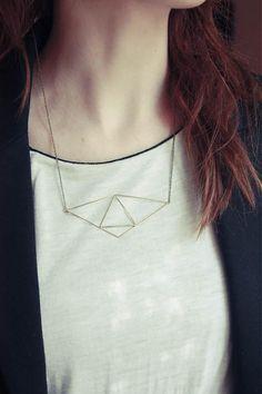 Origami náhrdelník by prettyfar - SAShE.sk - Handmade Náhrdelníky