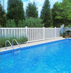 Cheap Pool Fence Ideas fenceabove ground pool fence cheap black mesh pool fence with white poles installed in Find This Pin And More On Cheap Pvc Wpc Fence