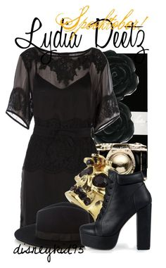 Lydia Deetz by disneykid95 on Polyvore featuring polyvore fashion style D&G Jonathan Aston Nly Shoes Alexander McQueen Monsoon Dollydagger Warehouse spooktober