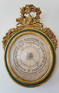 French Louis XVI Oval Barometer, 18th century.  I want....
