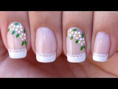 Frensh Nails, Nail Manicure, Manicures, Acrylic Nails, Nail Polish, Baby Blue Nails, Cute Pink Nails, Pretty Nails, Nail Art Designs Videos