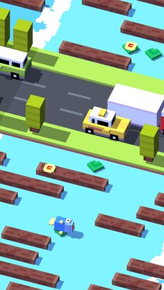 Crossy Road. Like Frogger? This game is for you. It's my newest addiction! -Joy