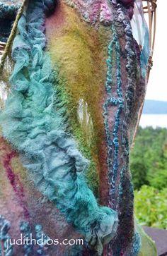 Coral & Magenta Roses on Turquoise, Royal Blue & Lime Magenta, Coral, Turquoise, Nuno Felt Scarf, Felted Scarf, Lavender Roses, Silk Shawl, Nuno Felting, Silk Painting