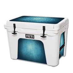 MightySkins Protective Vinyl Skin Decal for YETI Tundra 50 qt Cooler wrap cover sticker skins Blue Swirls *** To view further for this item, visit the image link.