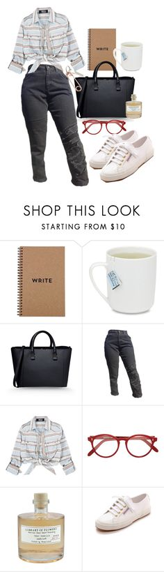 """""""17:56"""" by httpmajo ❤ liked on Polyvore featuring Brika, Victoria Beckham, Cutler and Gross, Library of Flowers, Superga, CB2, outfit, simpleoutfit, casualoutfit and summerstyle"""