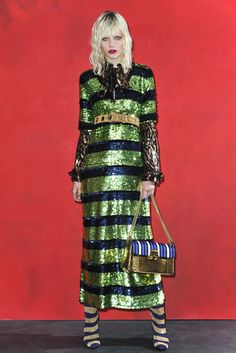Lanvin Resort 2016. Resort collections shined bright, whether with a touch or a ton of sequins, which ranged from graphic and colorful to more subdued. [Photo: Courtesy]