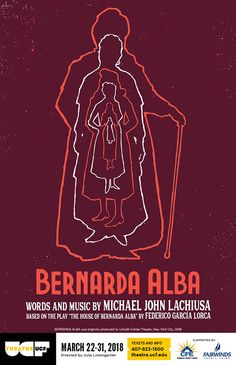 My poster art for Theatre UCF's 2018 production of Bernard's Alba