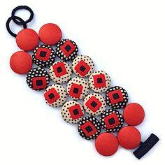 Cécile Bertrand # textile jewellery » PASTILLES