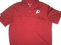 97342bb25f Darrel Young Signed Washington Redskins Nike Dri-Fit XL Polo Shirt - Worn  for Charity Softball Game