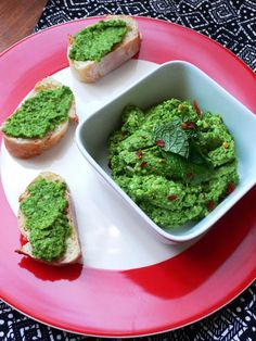 Peas and mint pesto