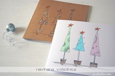 Christmas cards, handmade, watercolor
