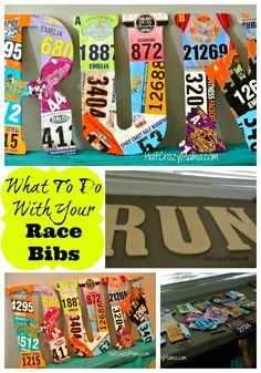 As a runner I proudly display my medals, but my race bibs were just getting stacked on a shelf. I started to brainstorm a fun craft project that I could to do with race bibs that would help d… Run Disney, Disney Running, Race Bib Display, Running Bib Display, Race Medal Displays, Award Display, Display Ideas, K Tape, Race Bibs