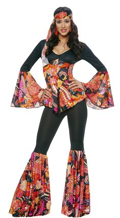 60s Groovy Hippie Adult Costume,$39.99