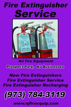 Fire Extinguisher Service Prospect Park, NJ (973) 784-3119 Local New Jersey Businesses Discover the Complete Fire Protection Source.  We're NJ Fire Equipment.. Call us today!