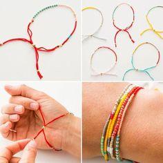 2 Modern Takes on DIY Beaded Bracelets