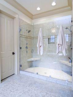 Various Dual Shower Designs: Traditional Bathroom Double Shower Unattractive Shower Necessities Around The Bathroom ~ zamfohr.org Bathroom Inspiration