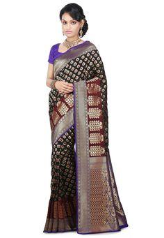Pure Banarasi Silk Saree in Black