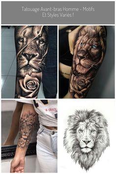 #lion tattoo Tatouage avant-bras homme - motifs et styles variés !