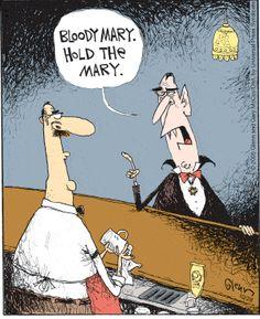 Halloween Quotes : Dracula's nightcap Halloween Humor, Halloween Cartoons, Halloween Themes, Happy Halloween, Halloween Signs, Halloween Cards, Funny Cartoons, Funny Comics, Funny Memes