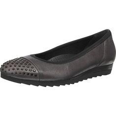 Modische Gabor Pumps aus Echtleder mit dekorativen Nietendetails an der Schuhspitze. Das Fußbett ist angenehm gepolstert und sorgt damit für ein komfortables Lauferlebnis.  - Verschluss: Schlupf - Absatzart: Flach - Schuh-Weite: G  Obermaterial: Leder (Glattleder) Futter: Textil (Fleece) Decksohle: Leder Laufsohle: Sonstiges Material (EVA-Sohle)  Materialzusammensetzung: Decksohle: Leder Futter...