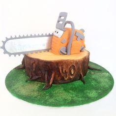 Husquarna Chainsaw tree stump cake