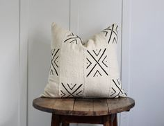 African Mudcloth pillow 'Omari'
