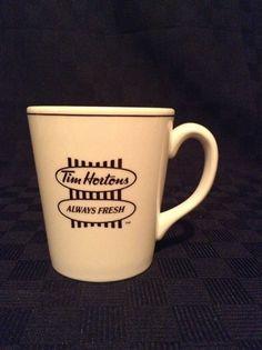 Steelite Brown White Tim Horton's Coffee Cup Mug Drink Donuts #TimHortons