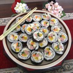 Kimbap (Korean sushi) - my mom's recipe!