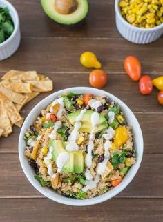 Spicy Quinoa Taco Bowl