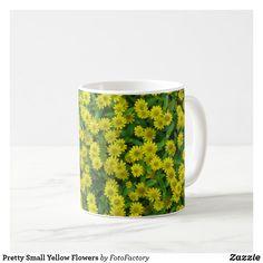 Pretty Small Yellow Flowers Coffee Mug