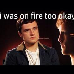 His face is priceless! #joshhutcherson #jhutch #josh #hutcherson #peetamellark #Peeta #mellark #boywiththebread