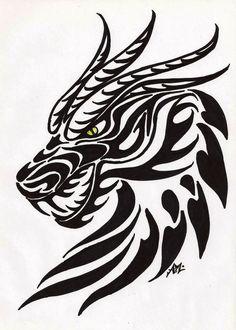 ... dragon head tattoo dragon tattoos designs idea dragonthing stencil
