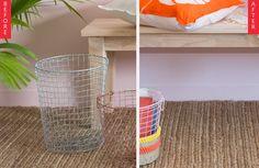 Ta-Da! Give Basic Wire Baskets a Colorful Makeover