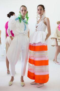 Delpozo at New York Fashion Week Spring 2017 - Backstage Runway Photos