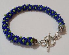 Items similar to Kumihimo Le Blue Bracelet on Etsy