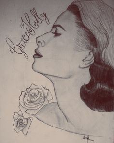 #gracekelly #beauty #princess of #monaco #actress #illustration done by me.