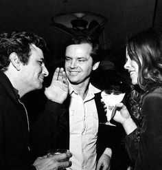 Peter Falk, Jack Nicholson and Michelle Phillips, early 70's